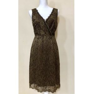 BCBG MAXAZARIA Sz Lace Sleeveless V-neck Dress